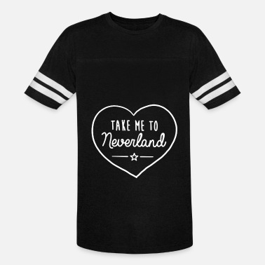 TAKE ME TO NEVERLAND Top Hipster Tumblr Cute Heart - Vintage Sport T-Shirt