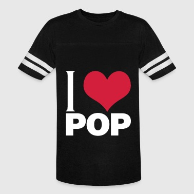 I Love Pop - Vintage Sport T-Shirt