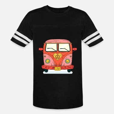 Woodstock Hippie 70s bus van love no war flower ower gift - Vintage Sport T-Shirt