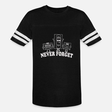 Forget Never Forget Retro VHS Floppy Disc Cassette - Vintage Sport T-Shirt
