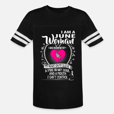 I Love June I am a June woman - Vintage Sport T-Shirt