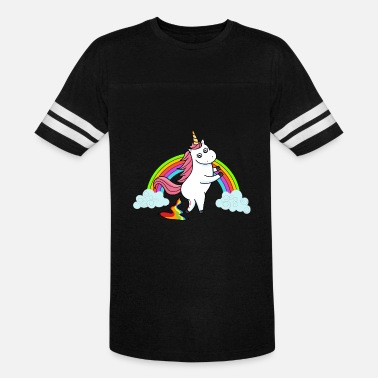 Cute Rainbow Poop Pooping Unicorn Rainbow - Vintage Sport T-Shirt