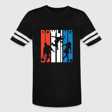 Red White And Blue Bowling - Vintage Sport T-Shirt