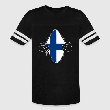 Suomi Flag Finland suomi Finnish Scandinavia Gift Patriot - Vintage Sport T-Shirt