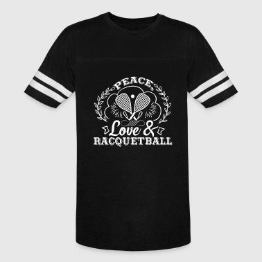 Love Racquetball Peace Love And Racquetball Shirt - Vintage Sport T-Shirt