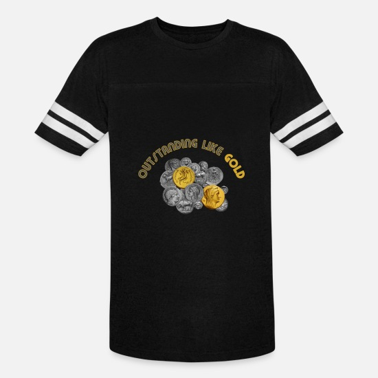 Gold T-Shirts - Outstanding Like Gold - Unisex Vintage Sport T-Shirt black/white