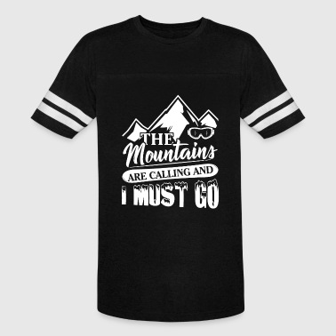 Skiing The Mountains Are Calling And I Must Go The Mountains Are Calling And I Must Go Shirt - Vintage Sport T-Shirt