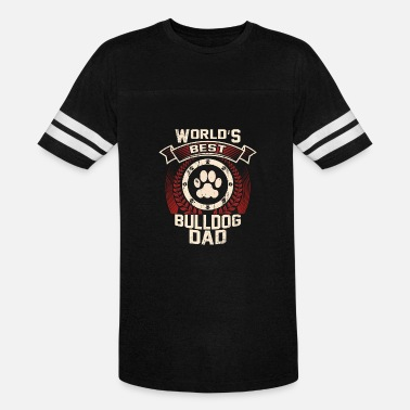 Bulldog Dad World's Best Bulldog Dad - Vintage Sport T-Shirt
