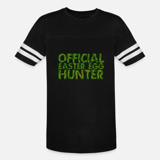 Hunter T-Shirts - Hunter - Official Easter Egg Hunter - Unisex Vintage Sport T-Shirt black/white