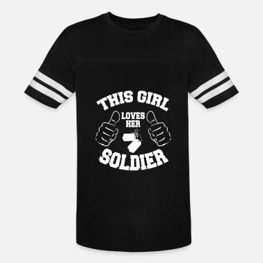 Girl Soldier Soldier - this girl loves her soldier - Vintage Sport T-Shirt