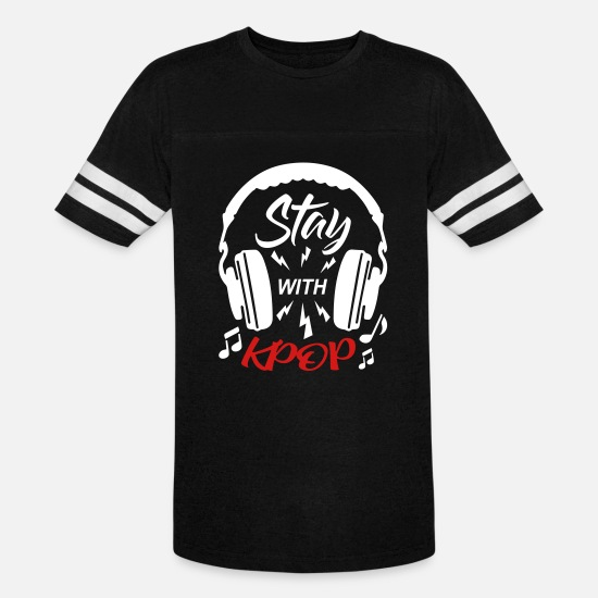 Kpop T-Shirts - Stay With KPOP - Unisex Vintage Sport T-Shirt black/white