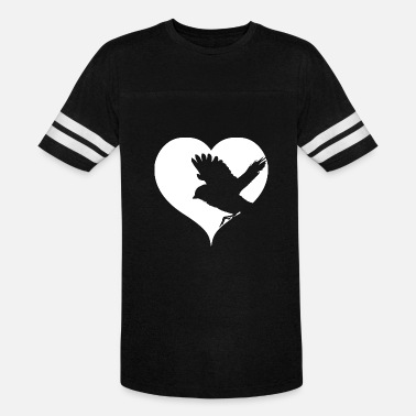 Little Bird Silhouette Love Birds Heart Songbirds - Vintage Sport T-Shirt