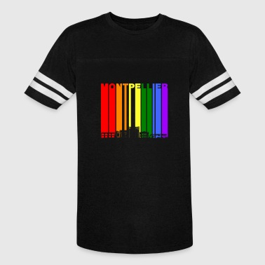 Montpellier France Skyline Rainbow LGBT Gay Pride - Vintage Sport T-Shirt