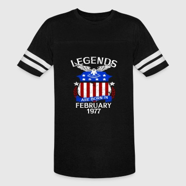 Legends Are Born In February 1977 - Vintage Sport T-Shirt