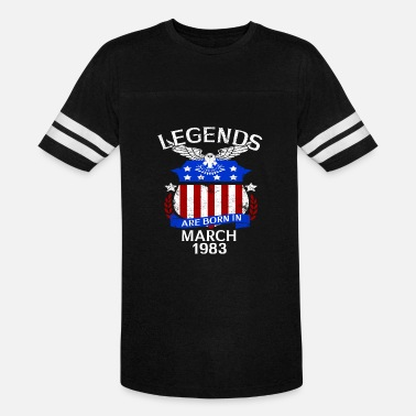 1983 Bday Legends Are Born In March 1983 - Vintage Sport T-Shirt