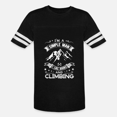 Boobs Mountain Simple man who like boobs and climbing - Vintage Sport T-Shirt