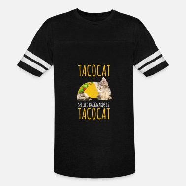 Cat Food Taco Cat Gift Foodie Kitty Cat Funny Mexican Food - Vintage Sport T-Shirt