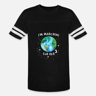 Earth Day I Am Marching Earth For Her TShirt - Unisex Vintage Sport T-Shirt