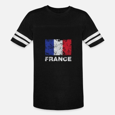 French Flag Distressed Flag Of France French Republic Pride - Vintage Sport T-Shirt