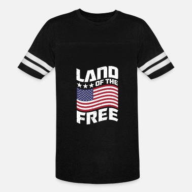 Tits Patriotic Land of the Free USA Design - Vintage Sport T-Shirt