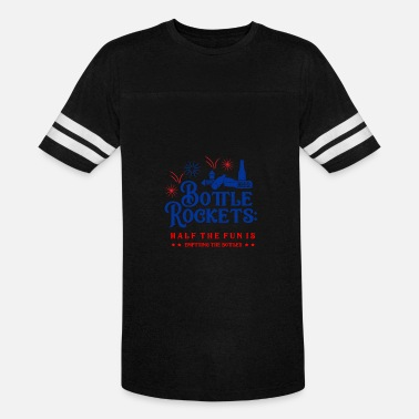 Posters New Year Fireworks and Beer Bottle Rockets 4th of July Design - Vintage Sport T-Shirt