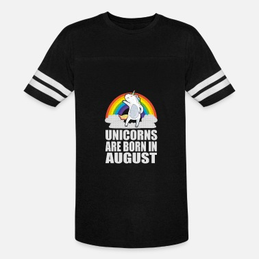 Dobre Brothers Unicorns Are Born In August Birthday Gift Shirt - Vintage Sport T-Shirt