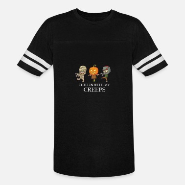 Creep Cute Chillin With My Creeps - Cute Halloween Design - Unisex Vintage Sport T-Shirt
