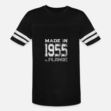 1955-birthday-year-men Birthday Celebration Made In June 1955 Birth Year - Vintage Sport T-Shirt