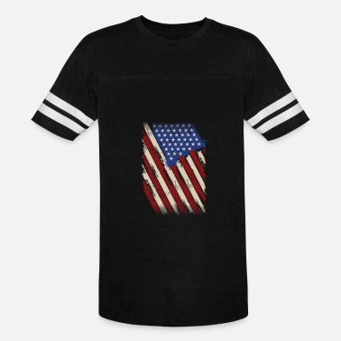 The American Flag Distressed American Flag, American Flag - Unisex Vintage Sport T-Shirt