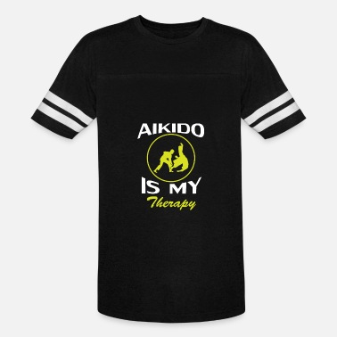Aikido Aikido Is My Therapy - Unisex Vintage Sport T-Shirt