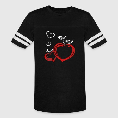 Apple Shapes Two apples in heart shape, autumn, fruits, love. - Vintage Sport T-Shirt