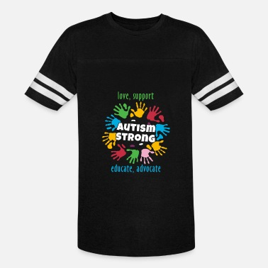 Autism Awareness Advocate Autism Awareness Month - Love Support Educate Advocate - Vintage Sport T-Shirt