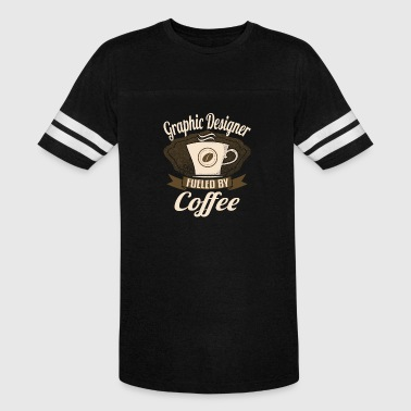 Coffee Graphic Graphic Fueled By Coffee - Vintage Sport T-Shirt
