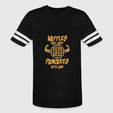Pancake Gym Waffles are just pancakes with abs - Vintage Sport T-Shirt