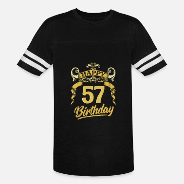 57 Years Old Birthday 57 Years Birthday Happy Bday Birthday Gift Present - Vintage Sport T-Shirt