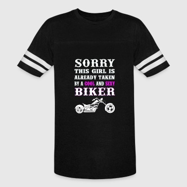 Girl Sexy Cycling Biker - This girl is talken by a sexy biker - Vintage Sport T-Shirt