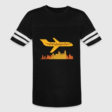 Pilot Heartbeat Airplane Pilot Pilot Heartbeat Flying - Vintage Sport T-Shirt