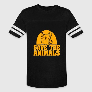 Pig Farmer Save the Animals - Vintage Sport T-Shirt