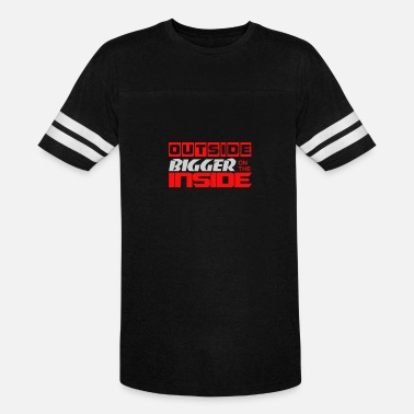 Bigger On The Inside Outside Bigger On The Inside Trending - Unisex Vintage Sport T-Shirt