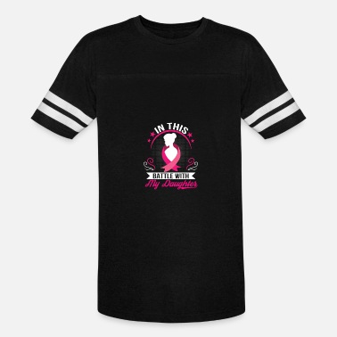 For My Daughter With Breast Cancer Breast Cancer Daughter Battle With Daughter - Vintage Sport T-Shirt