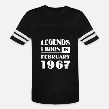 f2c49ea7 Legends are born in February 1967 - Unisex Vintage Sport T-Shirt