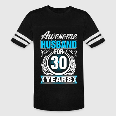 30 Years Awesome Awesome Husband for 30 Years - Vintage Sport T-Shirt