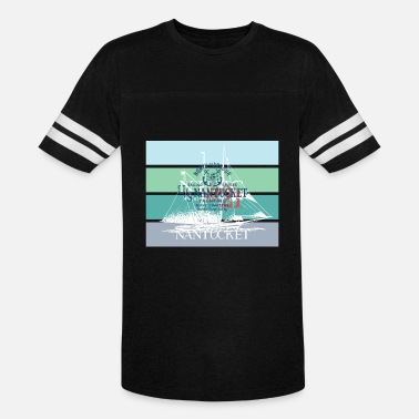 Yachting Sailing Nantucket North Harbour Design - Vintage Sport T-Shirt
