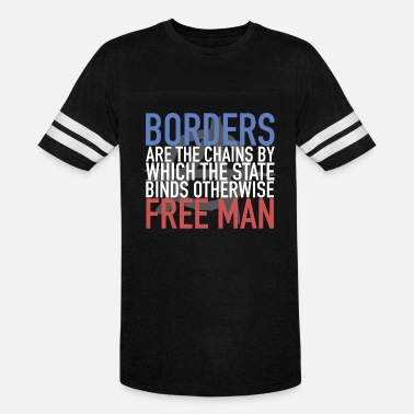 Freedom Chains Borders Are The Chains Freedom Humanity Refugees - Vintage Sport T-Shirt