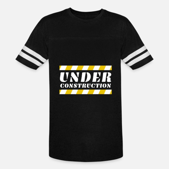 Under T-Shirts - Under Construction - Unisex Vintage Sport T-Shirt black/white