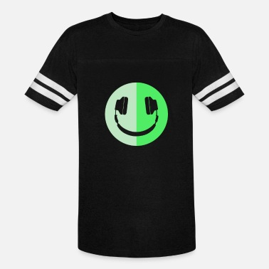Glow-in-the-dark Quotes Glow In The Dark Headphone Smiley - Vintage Sport T-Shirt