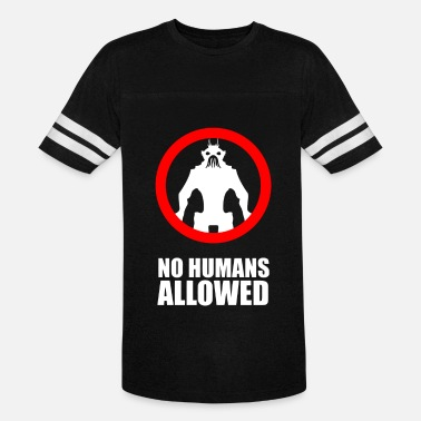 Allowed No Humans Allowed - Unisex Vintage Sport T-Shirt