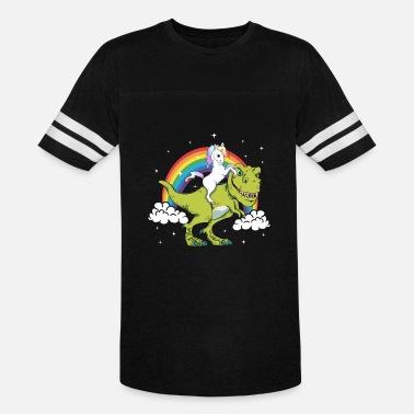 d2474002 Unicorn T-Rex Dinosaur Tyrannosaurus Gift Present - Unisex Vintage Sport T- Shirt