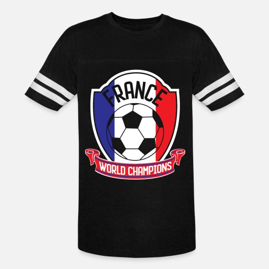 National Team T-Shirts - France Football World Champions 2018 - Unisex Vintage Sport T-Shirt black/white