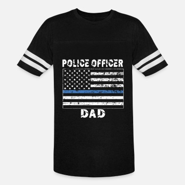 Police Officer dad, Father's Day, blue thin line - Unisex Vintage Sport T-Shirt